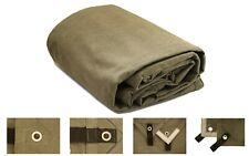 Heavy Duty Waterproof Canvas Tarp 18 Oz. & 100% Cotton Canvas Tarpaulin Cover