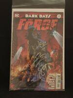 DC Dark Days The Forge #1 Signed By Andy Kubert Scott Snyder Romita Jr. J Tynion