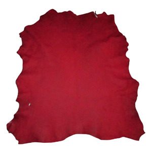 Stunning Red Distressed Goatskin Leather Hide Bookbinding Journal Bible