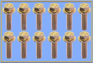 Set 12 Bolts Exhaust Manifold Hardware Kit Replace GMC OEM # 674014