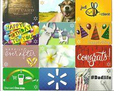Lot of (12) Walmart Gift Cards No $ Value Collectible Llama Dog Birthday Bee