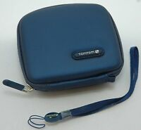 NEW GENUINE TomTom Blue EVA Carry Case ONE 125 SE 130S 140S EASE Start2 gps tom
