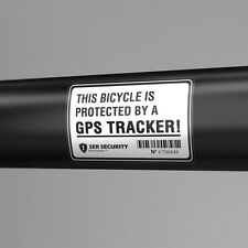 2x BICYCLE SECURITY STICKER - GPS Tracking System, Alarm Lock, Bike Security