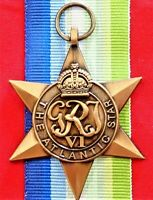 **WW2 THE ATLANTIC STAR MEDAL RIBBON REPLICA MEDAL MOUNTING ANZAC