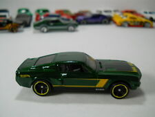 Hotwheels 1968 Ford Shelby Mustang GT500 Green 1/64 Scale JC27