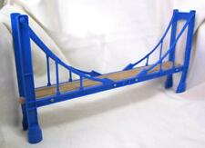 "Brio/ Thomas Train/ Melissa & Doug Compatible, Maxim Enterprise Blue 15"" Bridge"