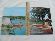 New listing 1963 PAIR OF OLD TOWN WOODEN CANOE AND WOODEN BOAT ADVERTISING PHOTOS