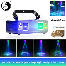 400mW Green & Blue Stage Light Laser Show System Projector DMX512 DJ Disco Party