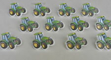 12 John Deere Tractor Cup Cake Rings Topper Kid Farm Party Loot Bag Favor Supply