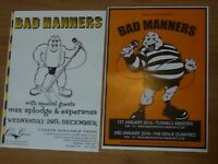 Bad Manners live music memorabilia - Scottish tour concert show gig posters x 2
