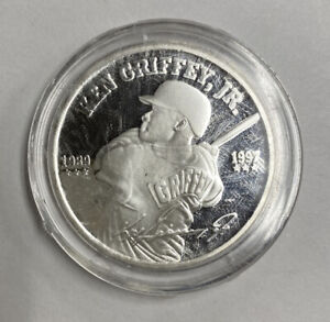 1997 Ken Griffey Jr 1 Troy Ounce Silver Proof Coin