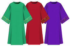 Dalmatics with deacon stole / Set of 3 (Green, Violet, Red) dalmatic vestments