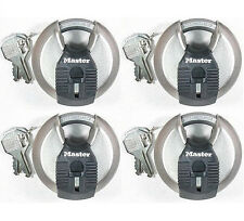 Lock Set by Master M40KA (Lot of 4) KEYED ALIKE Round Sealed Shrouded Carbide
