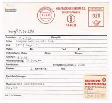 Hagen 1955 Knapsack Griesheim Sauerstoff Messer Industriegase Archivkarte Unika