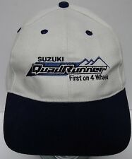 SUZUKI QUAD RUNNER QUADRUNNER RACING AUTOMOBILE ADJUSTABLE HAT CAP 7 1/4 OR LESS