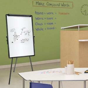 Kids Magnetic Writing Whiteboard Height Adjustable Tripod Stand w/ Dry Erase&Pen
