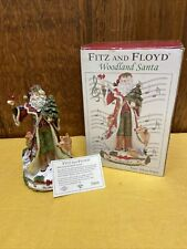 2007 Fitz & Floyd Santa Musicbox Figurine 9.5� Tall W/Box Silent Night Used