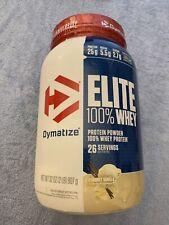 Dymatize - ELITE 100% WHEY PROTEIN - 2 lbs - 25 Serv - Gourmet Vanilla Exp 09/21
