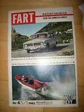 Motor Revy FART 1962 Buckelvolvo Lancia Astura  -seltenes Heft