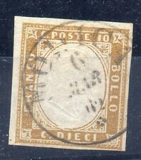 FRANCOBOLLI ANTICHI STATI 1862 SARDEGNA 10 CENTESIMI MILANO 6/3 A/4094