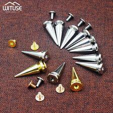 10/20/50/100Pcs Metal Studs Rivet Bullet Spike Cone Screw For Leathercraft DIY