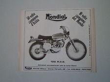 advertising Pubblicità 1972 MOTO MONDIAL 125 RCE