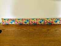 Door Draft Blocker Stopper Pansy Flowers Design New Made USA Empty Unfilled