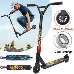 Stunt Scooter Push Kick Trick Scooters 2 Wheels Kids Adult City Outdoor Play UK