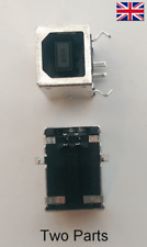 USB Type B 90 Degrees DIP Female Socket Connector - 4pins PCB Solder - UK Seller