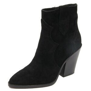 G2448 tronchetto donna ASH ESQUIRE black suede ankle boot shoe woman