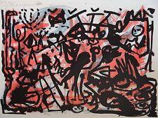 A. R. Penck - Lausanne 6 Die Wilden - Lithographie 100 x 70cm