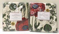 "NEW Pottery Barn Poppy Botanical 50 x 84"" Cotton Lined Drapes, SET OF 2"