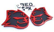 Red Black Hell Kitten Emblems fit Dodge Mopar Badges One Pair Left + Right Sides