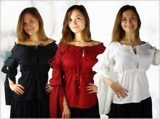 Damenblusen, - tops & -shirts mit Rüschen im Passform Gothic