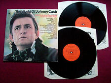 "Johnny Cash -The World Of. UK 1970 12""  Double Vinyl  LP CBS  66237 EX+/EX+/VG"