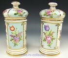 ANTIQUE RUSSIA POPOV FACTORY PORCELAIN PAIR OF JARS APOTHECARY PHARMACY