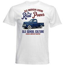 VINTAGE Americano FORD furgone pick F1-Nuovo T-shirt di cotone