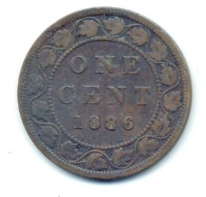 CANADA, 1886, 1c, Large Penny, Queen Victoria (COIN, MONEY, COLLECTIBLE) b