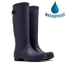 More details for joules field welly womens ladies blue tall wellies wellington boots size 4-8