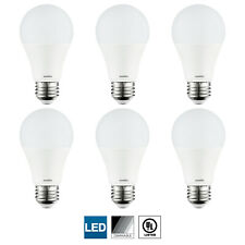 6-Pack Sunlite LED A19 Bombilla 5.5W, Regulable, medio base, Underwriters Laboratories en la lista, 4000K