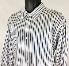 BROOKS BROTHERS TRADITIONAL FIT NON IRON BUTTON UP DRESS SHIRT Mens Size 17-2/3