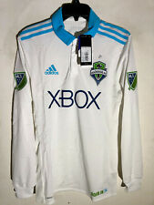 Adidas Authentic MLS Jersey Seattle Sounders Long Sleeve Team White sz S