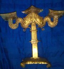 Großer Kerzenständer Nachtlicht 3 armig Jardiniere Metall Messing ca. 25 x 30 cm