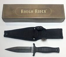 "Rough Rider Black Handle 440 Stainless 9"" Fixed Blade Boot Knife RR1489"