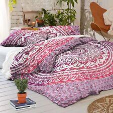 Bohemian Mandala Bedding Set Decor Bed Indian Queen Size Duvet Cover 2 Pillow B7