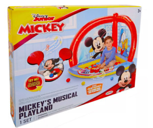Disney Junior Mickey Mouse Mickey's Musical Playland Inflatable W/ 20 Balls New
