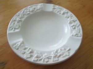 Vintage Wedgewood Ashtray - Embossed Queens Ware - England - Perfect