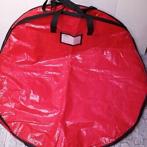 """Propik Christmas Wreath Zippered Storage Bag 36"""" Garland Holiday Container Red"""