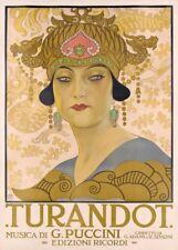 Giacomo Puccini Turandot Opera Vintage Musique Classique Poster