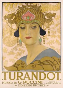 Giacomo Puccini TURANDOT Opera Vintage Classical Music Poster